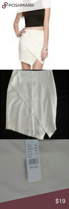 Asymmetrical Skirt NWT Asymmetrical Pacsun white skirt from Rush brand in white. New with tags NWT never worn. Fits sizes 5-7. PacSun Skirts Asymmetrical