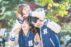 The Three Musketeers of Fuzhou. The relatable drama of 2016 - Weightlifting Fairy Kim Bok Joo ♡ These crazy trio was the best 😄 Weightlifting Kim Bok Joo, Weighlifting Fairy Kim Bok Joo, Kdrama, Ulzzang, Lee Joo Young, Kim Book, Swag Couples, Lee Sung Kyung, Joo Hyuk