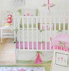 Mädchenzimmer Babybettchen Gitterbett-Bettwäsche