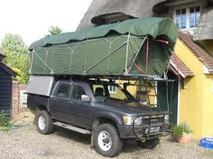 Homemade rooftop tent, sleeps 4
