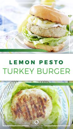 A Lemon Pesto Turkey Burger is delicious hot off the grill