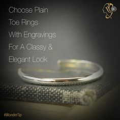 Plain ‪#‎ToeRings‬ With Engravings gives you a ‪#‎Classy‬ & ‪#‎Elegant‬ Look.‪#‎WonderTip‬ ‪#‎Jewelry‬