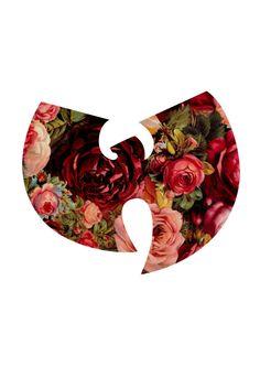 red flower flowers pattern logo rose wu tang roses wu tang clan wu flower pattern floreal pattern