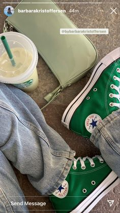 Mode Converse, Green Converse, Outfits With Converse, Cute Outfits, Dr Shoes, Swag Shoes, Hype Shoes, Me Too Shoes, Sneakers Fashion