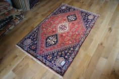 Hand Knotted Qashgai Rug from Iran (Persian). Length: 162.0cm by Width: 105.0cm. Now only £699 (Was £789) at https://www.olneyrugs.co.uk/shop/rugs-for-sale/persian-qashgai-18210.html    Feast your eyes on our beautiful collection of Persian carpets, kilim ottomans and Kilim cushion covers at www.olneyrugs.co.uk