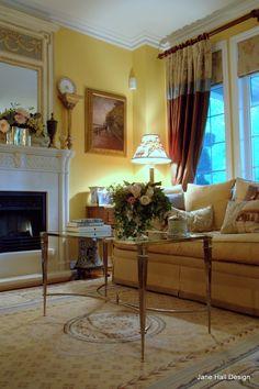 Antique Empire Settee Reupholstered in Scalamndre Cut Velvet and Designers Guild Silk