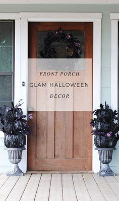 Front Porch Glam Halloween Decor - Kiss My Tulle