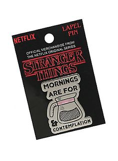 """Shhhh. No talking yet. If you agree with Hopper that morning are for coffee and contemplation, then rock this enamel lapel pin on your jacket and let everyone know you're not ready for words yet.<div><ul><li style=""""list-style-position: inside !important; list-style-type: disc !important"""">1 1/2"""" x 1""""</li><li style=""""list-style-position: inside !important; list-style-type: disc !important"""">Metal</li><li style=""""list-style-position: inside !important; list-style-type: disc…"""