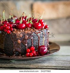 This HD wallpaper is about cherry, chocolate, receipt, cake, Original wallpaper dimensions is file size is Buy Cake, Cake Shop, Cake Wallpaper, Wallpaper Desktop, Chocolate Cherry Cake, Chocolate Cakes, Chocolate Food, Fresh Cake, Fresh Fruit