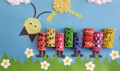toilet paper roll caterpillar craft (2)