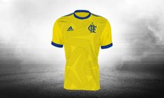 The Flamengo 17-18 third kit will be yellow and blue, with a custom fan-designed…