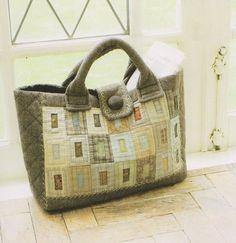 How to make tutorial block shoulder tote Bag Handbag  purse women sewing quliting quilt patchwork applique pdf pattern patterns ebook. $5.00, via Etsy.