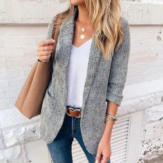 casual outfits for women \ casual outfits . casual outfits for winter . casual outfits for women . casual outfits for work . casual outfits for school . Summer Work Outfits, Casual Work Outfits, Mode Outfits, Work Attire, Work Casual, Fall Outfits, Hiking Outfits, Blazer Outfits For Women, Casual Work Outfit Winter