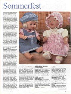 Album Archive - Dukketøj til Baby Born 1 - Ingelise Baby Born Clothes, Girl Doll Clothes, Girl Dolls, Baby Dolls, Love Knitting Patterns, Baby Patterns, Doll Patterns, Knitting Dolls Clothes, Knitted Dolls