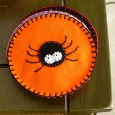 DIY Halloween Felt Coasters