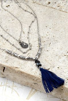 Tassel Charm Necklace Set | Forever 21 - 1000077087