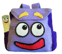 Crochet Pattern - Dora The Explorers Backpack & Map