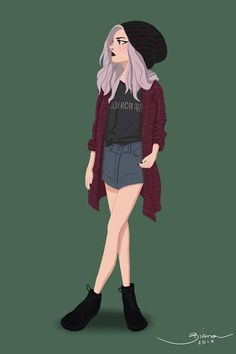 Grunge girl on behance. grunge girl on behance character design references Male Character, Character Design Cartoon, Character Design Animation, Character Drawing, Character Design Inspiration, Character Illustration, Illustration Art, Cute Girl Drawing, Cartoon Girl Drawing