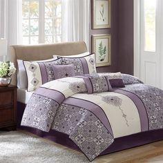 Madison Park Donna 7 Piece Comforter Set - Purple - King Madison Park http://www.amazon.com/dp/B00LFFYDWK/ref=cm_sw_r_pi_dp_IyTfvb0JP0MH4