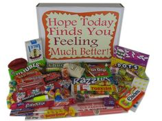 Get Well Soon Retro Nostalgic Candy Gift Basket Box – Gourmet Gifts Get Well Gift Baskets, Candy Gift Baskets, Candy Gift Box, Gourmet Gift Baskets, Gourmet Gifts, Candy Gifts, Bubble Gum Cigars, Charleston Chew, Necco Wafers