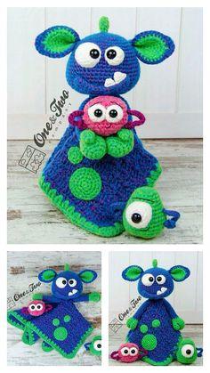 Crochet Girls, Crochet For Kids, Free Crochet, Knit Crochet, Crochet Hats, Crochet Monsters, Step By Step Crochet, Baby Comforter, Children's Toys