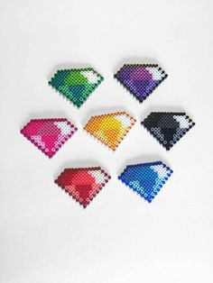 Chaos Emeralds Sprite Set Sonic the Hedgehog Perler Beads