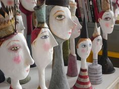 Heads, paper, sculpture, doll, sculpturepottery-787def703dd67c3b42d96ddfcaa87db8_h
