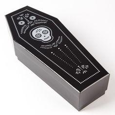 Dia de los Muertos Coffin Wine Box Price $12.95 @ Papyrus