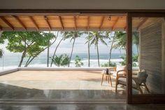 Indian ocean views from upstairs master bedroom #LuxuryBeddingOceanViews