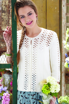 Lace Detail Cardigan by Holli Yeoh, Knit Simple SS13