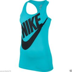 661bc9a3fb79d WOMEN S SMALL NIKE TANK TOP RACER BACK LOOSE FIT EXPLODED SWIM T-SHIRT  LOOSE FIT