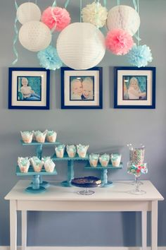 How to Make DIY Cake Stands and the décor from the ceiling is so great