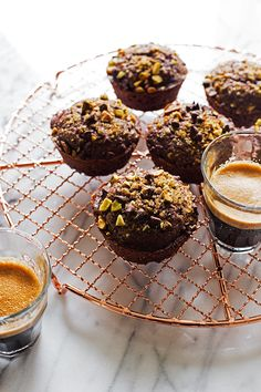 Double Chocolate Pistachio Muffins
