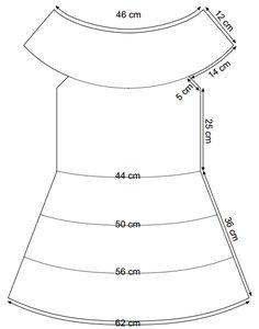 As Receitas de Crochê: Vestido de crochê decote canoa