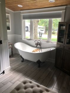 Add a little old touch to your modern farmhouse bathroom