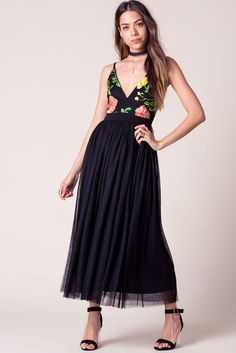 Spring Embroidered Mesh MaxiSpring Embroidered Mesh Maxi