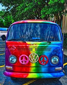 Guys, it's a VW AND has rainbow colors. Color me smitten.