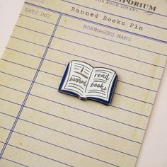 A shiny little enamel pin badge which celebrates the freedom to read banned books. A perfect gift for a book lover. Adorn your denim jacket, tote bag, backpack or coat with a our I read banned books pin and make a stand against censorship. A lovely literary gift for birthdays, Book Bar, Bag Pins, Literary Gifts, Jane Eyre, Classic Literature, Book Lovers Gifts, Open Book, Film Music Books, Pin Badges