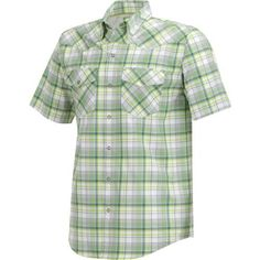 The Magellan Outdoors™ Men's Pecos Ridge Short Sleeve Shirt is made of polyester and features MagWick and MagShield fabric technologies.