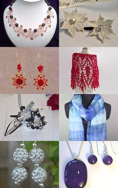 Festive party glamour by KTJewelleryCreations on Etsy--Pinned with TreasuryPin.com