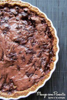 Torta de banana com chocolate