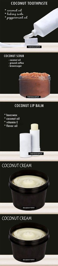 Coconut Oil Uses - 5 DIY homemade organic products using coconut oil 9 Reasons to Use Coconut Oil Daily Coconut Oil Will Set You Free — and Improve Your Health!Coconut Oil Fuels Your Metabolism! Baking With Coconut Oil, Coconut Oil Uses, Beauty Care, Diy Beauty, Beauty Hacks, Beauty Tips, Beauty Secrets, Ideias Diy, Homemade Beauty Products