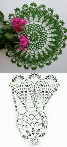 Free Crochet Doily Patterns, Crochet Doily Diagram, Crochet Bunny Pattern, Crochet Flower Tutorial, Crochet Circles, Crochet Flowers, Crochet Squares, Thread Crochet, Crochet Crafts
