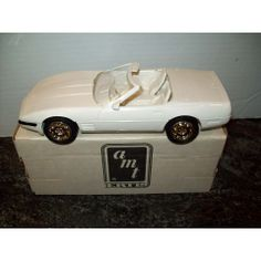 ERTL 1991 CORVETTE CONVERTIBLE PROMO MODEL PLASTIC VINTAGE ARCTIC WHITE COLOR