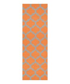 Take a look at the Pumpkin & Flint Gray Frontier Wool Runner on #zulily today!