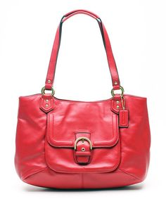 Look what I found on #zulily! Red Campbell Belle Leather Tote by Coach #zulilyfinds