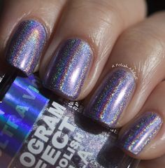 Layla Hologram Ultra Violet Swatches