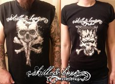 New shirts are in! These will be available in the next 2-3 weeks. Waiting for the zombie shirt to come in before uploading all three to the store. www.skullandboneclothing.com