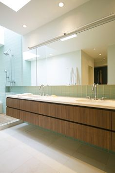 Vanity at Medina remodel by SHED Architecture & Design