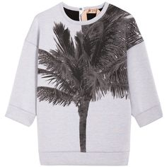 No. 21 Neoprene Palm Sweater found on Polyvore